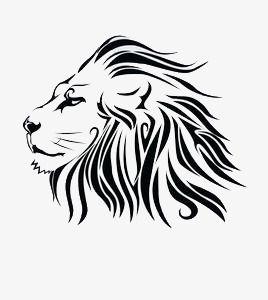 Hand Painted Black Lion, Lion Clipart, Hand Painted, Lion.
