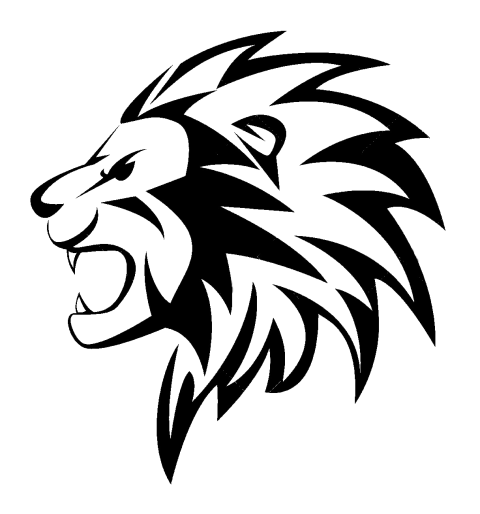 Lion Head Tattoo PNG Vector Clipart.