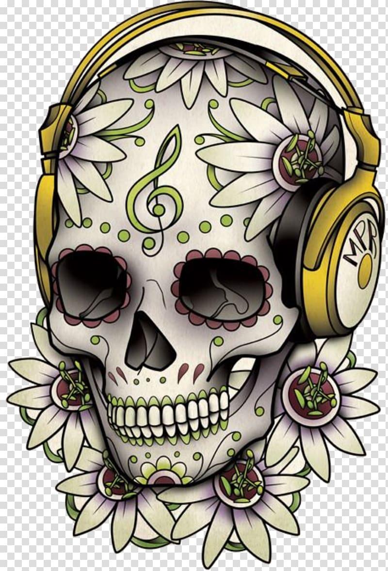 Calavera skull illustration, Calavera Tattoo Skull Day of.