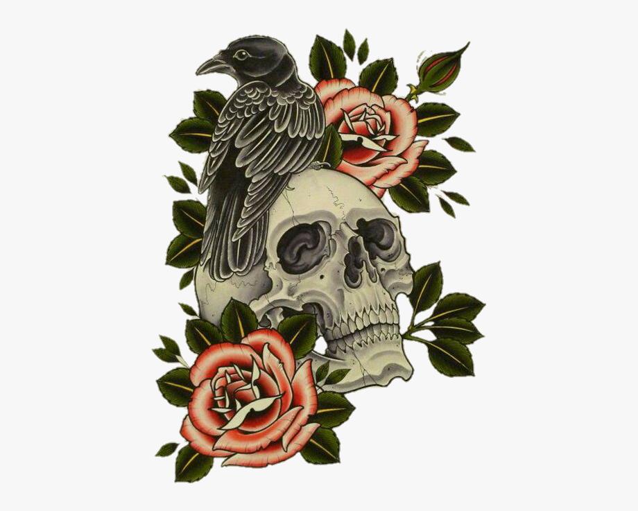 Crow Clipart Skull.