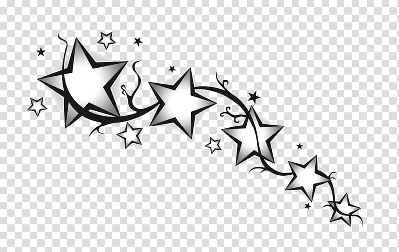 Drawing Star Tattoo Art, star transparent background PNG.