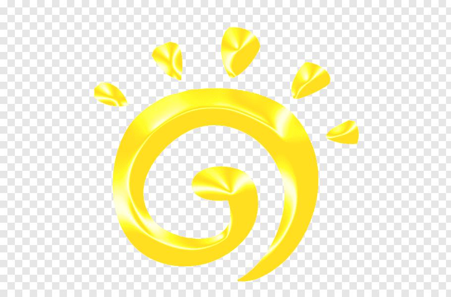 Yellow sun logo illustration,, sun free png.