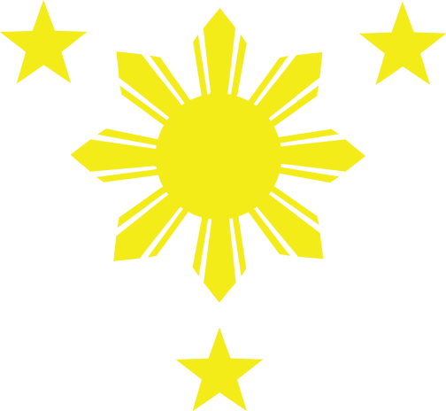 3 Stars and A Sun High Resolution Vector File Free Download.