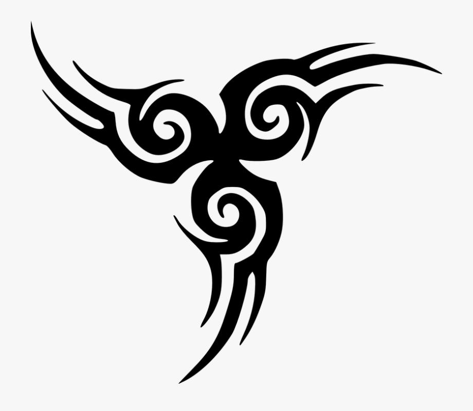 Spiral Clipart Tribal Tattoo.