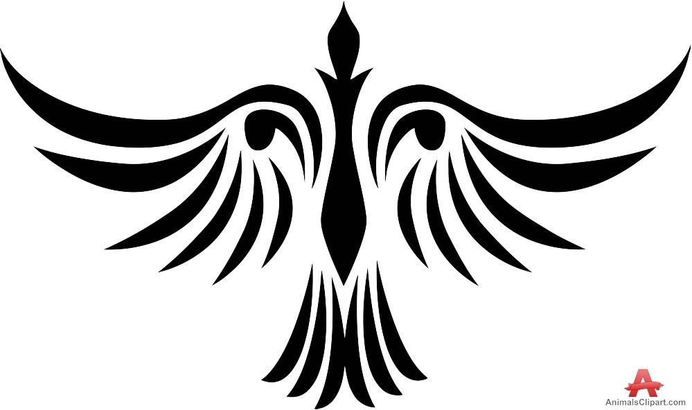 Tribal Bird Tattoo Design.