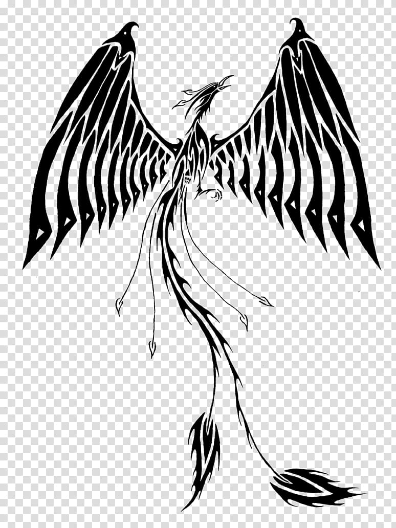 Tattoo Phoenix, Phoenix Tattoos File transparent background.