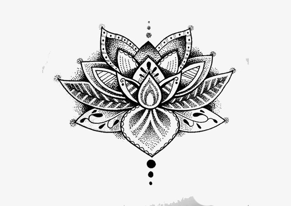 Download Free png Tattoo, Hand Painted, Lotus PNG Image and.