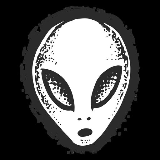 Tatuagem de alien rosto vintage.