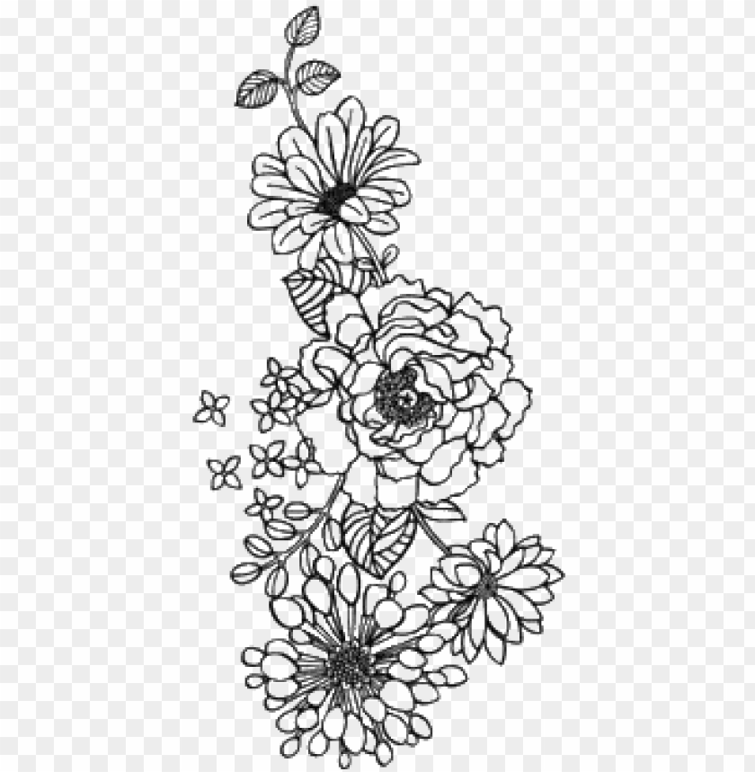 flower outline drawing tumblr tattoos pictures png.