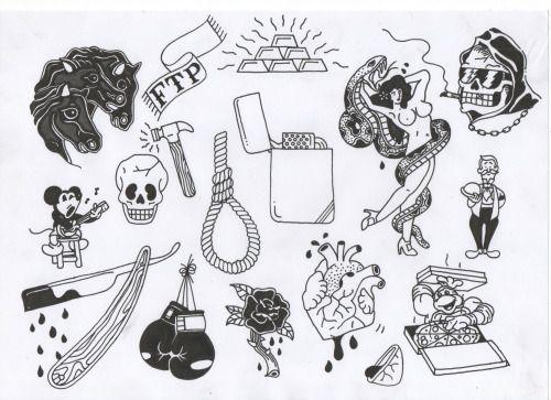 tumblr tattoo flash.