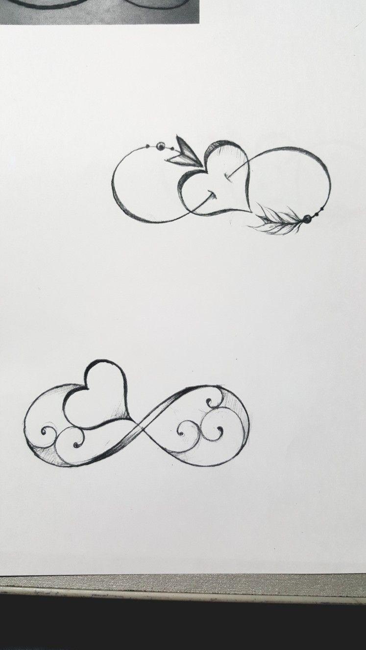 Tatuaggio infinito con cuore.