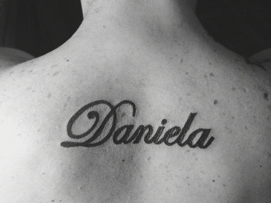 Daniela tattoo name.