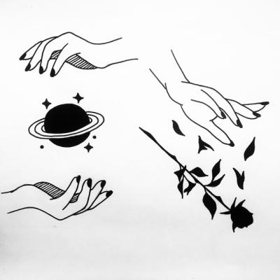 rosa tatuaje.