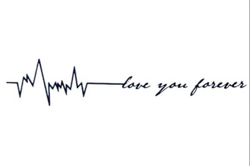 Tatuajes de latidos de corazón.