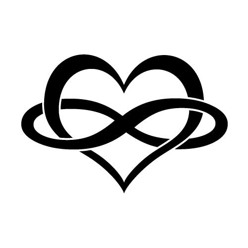 Resultado de imagen para tatuaje corazon infinito.