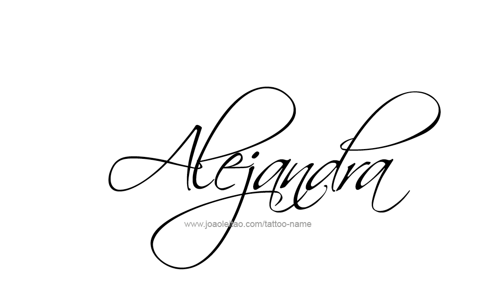 Alejandra Name Tattoo Designs.