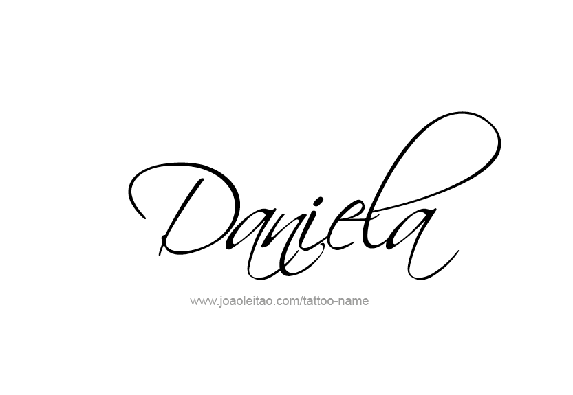 Daniela Name Tattoo Designs.