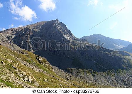 Stock Image of Mountain Saulkopf in Hohe Tauern Alps, Austria.