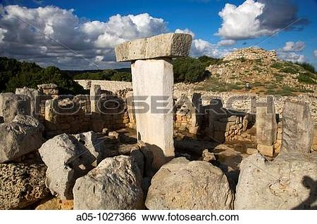 Stock Images of Taula de Torralba. Prehistoric Village of Torralba.