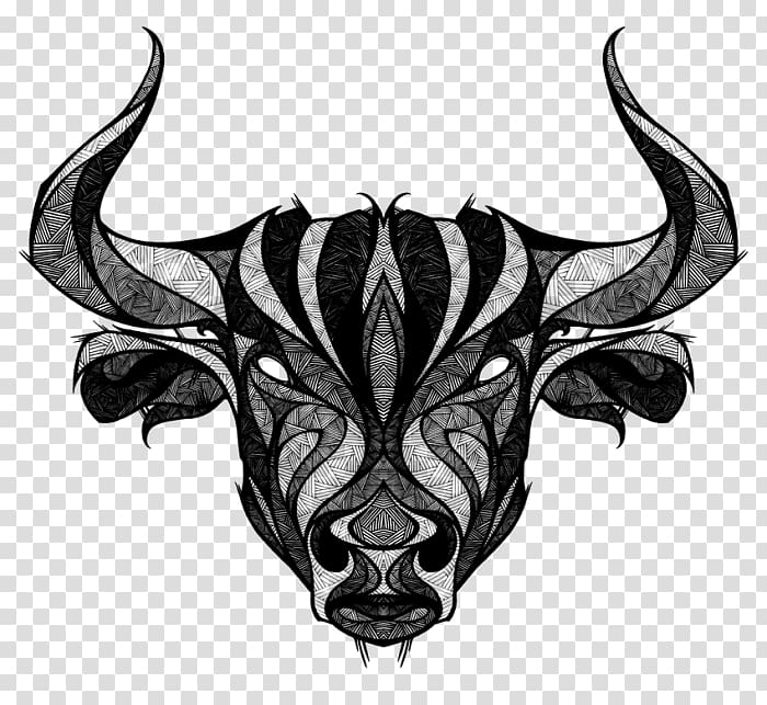 Taurus Tattoo ink Bull Drawing, taurus transparent.