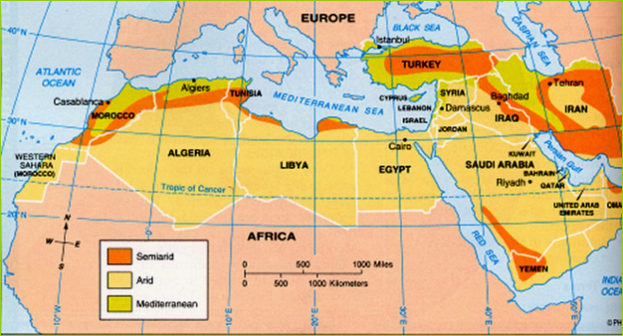 Climate Map Taurus Mountains On World Furthermore Middle East Bc.