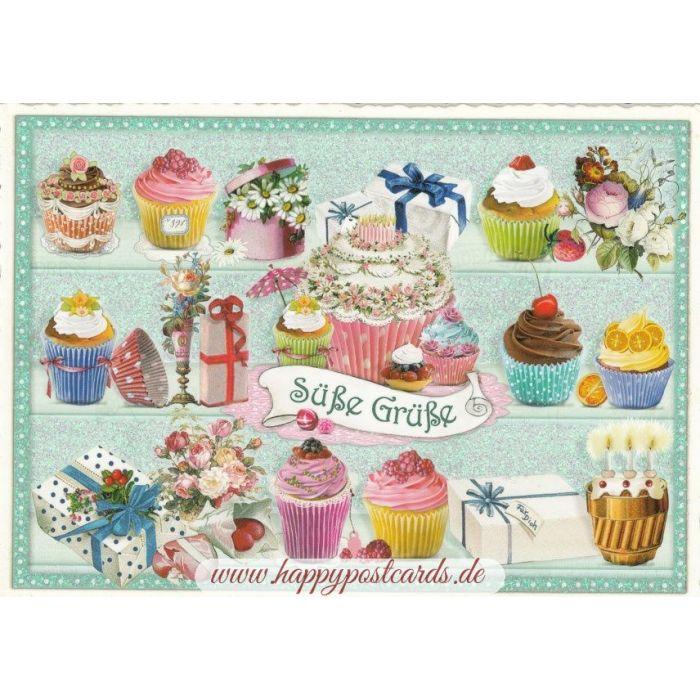 Postcard Sweet Greetings.