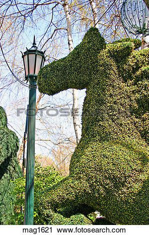 Stock Photography of Topiary at Tavern on the Green Central Park.