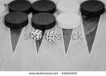 Backgammon Dice Stock Photos, Royalty.