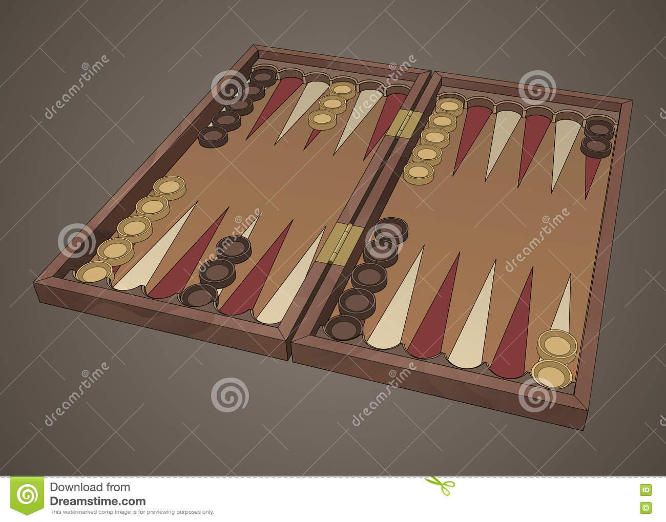 Greek Tavli Game Stock Photo.