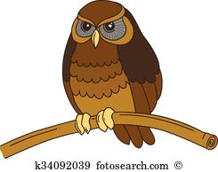 Tawny owl Clipart EPS Images. 9 tawny owl clip art vector.