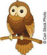 Tawny owl Clipart Vector Graphics. 9 Tawny owl EPS clip art vector.