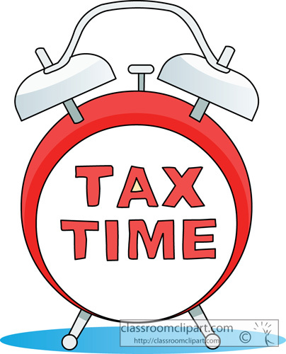 Tax Time Clipart.
