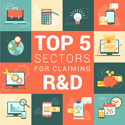 The Top 5 Sectors for Claiming R&D Tax Credits.