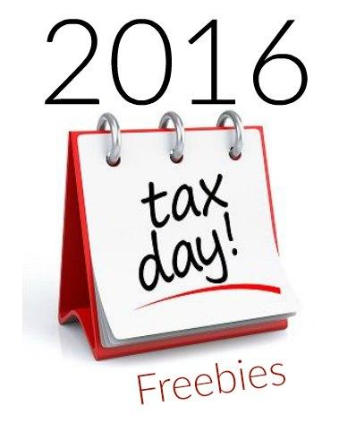 Tax Day Freebies 2016 & Deals.