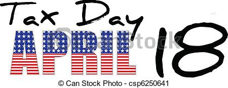 Tax Day 2016 Clipart.