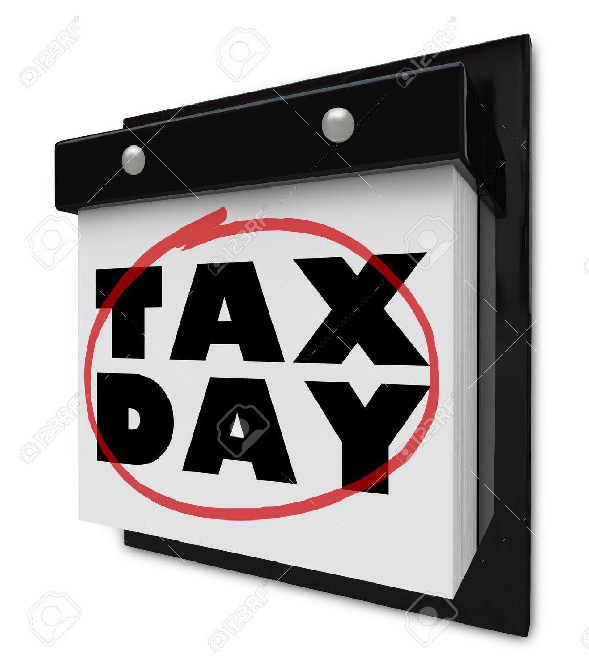 Clipart Cartoon Tax Day.