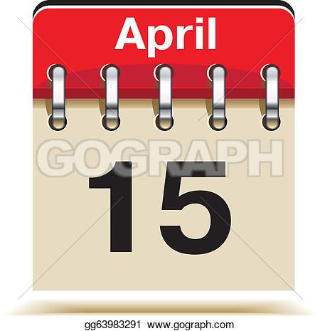 Tax April 15 Day Clipart.