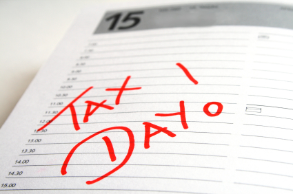 Tax Day April 18 Clipart.