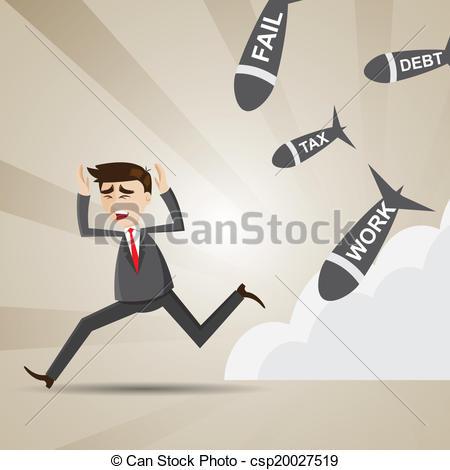 Clip Art Vector of Businessman running tax evasion csp15659364.