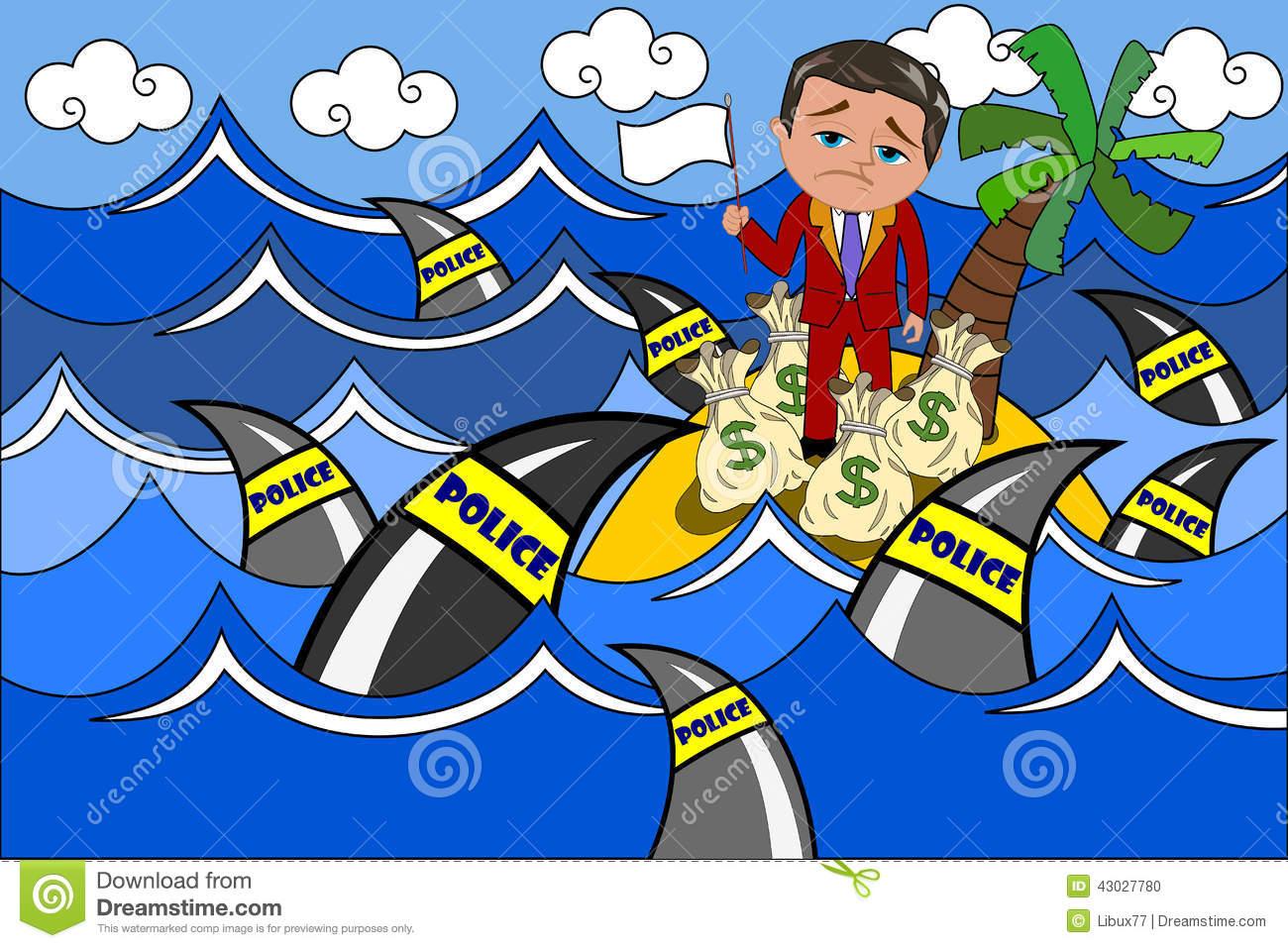 Tax Haven Stock Illustration.