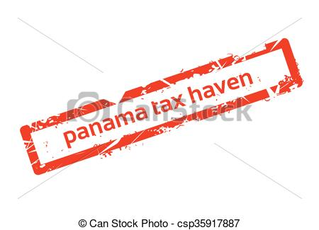 Vector of Panama Tax Haven Red Stamp Grunge Sign csp35917887.