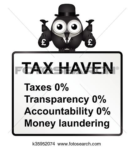 Clipart of Tax Haven k35952074.