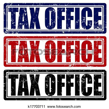 Clipart of Tax office k17703711.