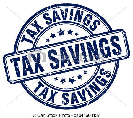 Vectors of tax savings blue grunge stamp csp41660437.