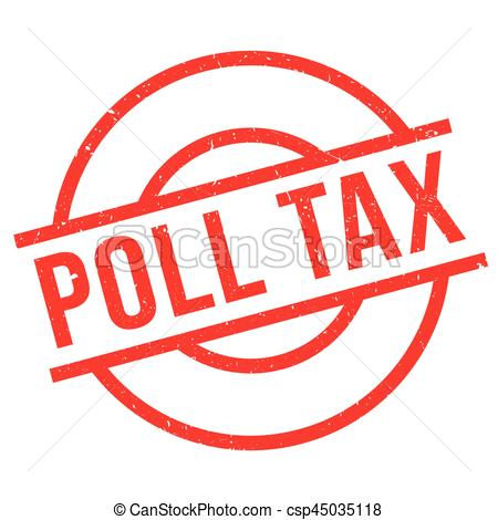 Poll Tax rubber stamp.