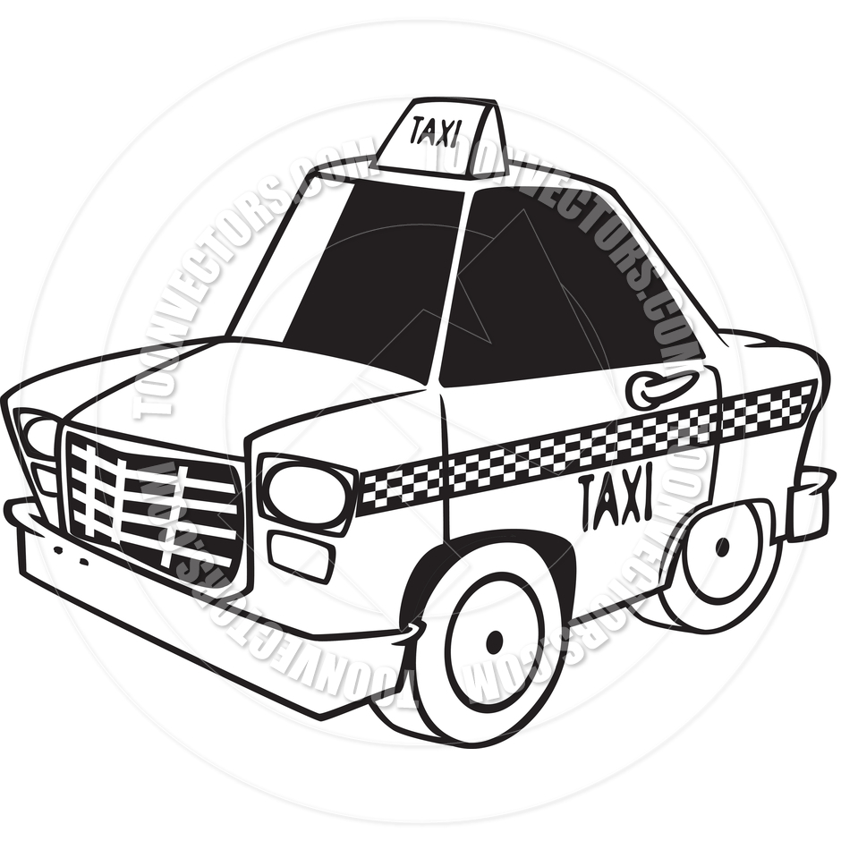 Taxi clipart black and white 9 » Clipart Station.