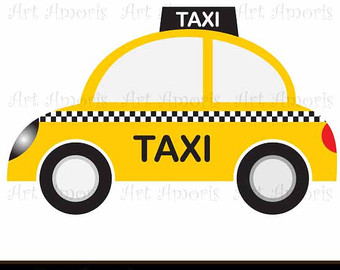 Yellow cab clipart.
