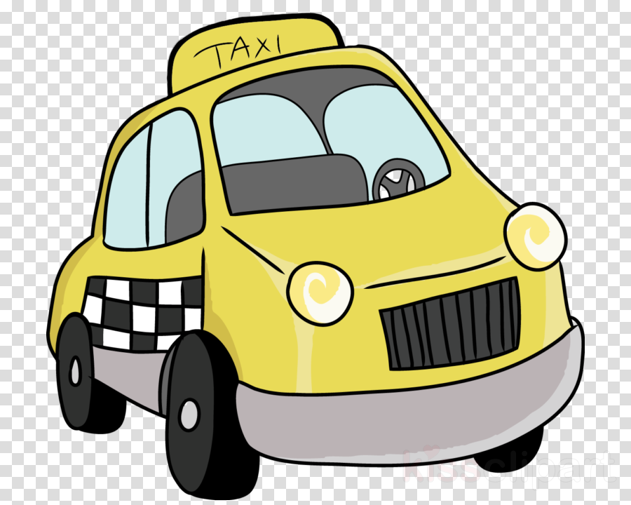 Taxi, Car, Yellow Cab, transparent png image & clipart free.