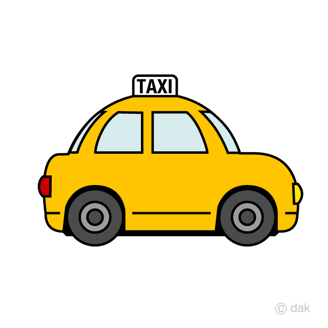 Cute Taxi Clipart Free Picture|Illustoon.