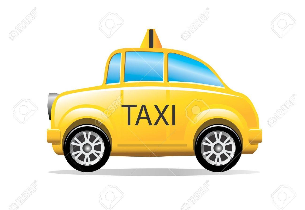 Taxi clipart vector.